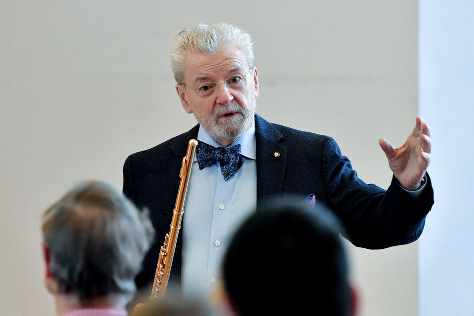 Flute Masterclass with Sir James Galway
