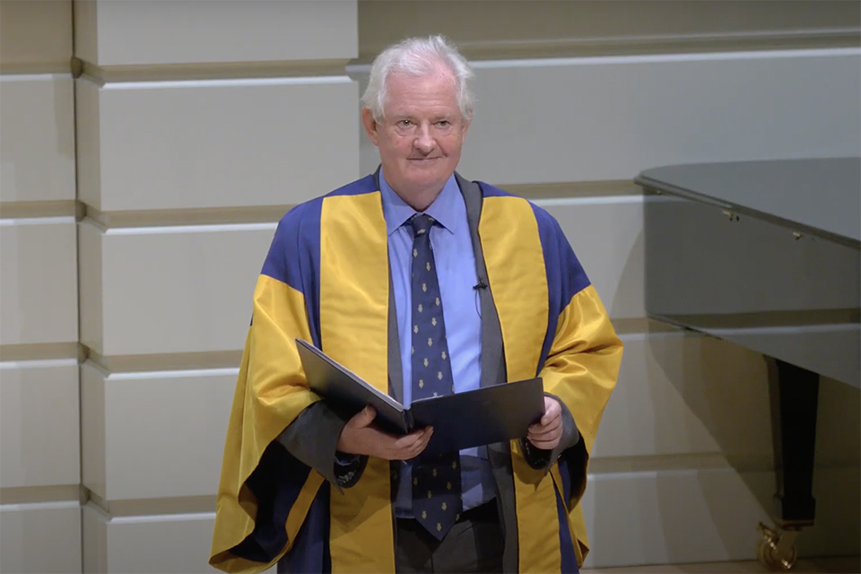 RCM Director Professor Colin Lawson speaking at the 2020 Virtual Gala