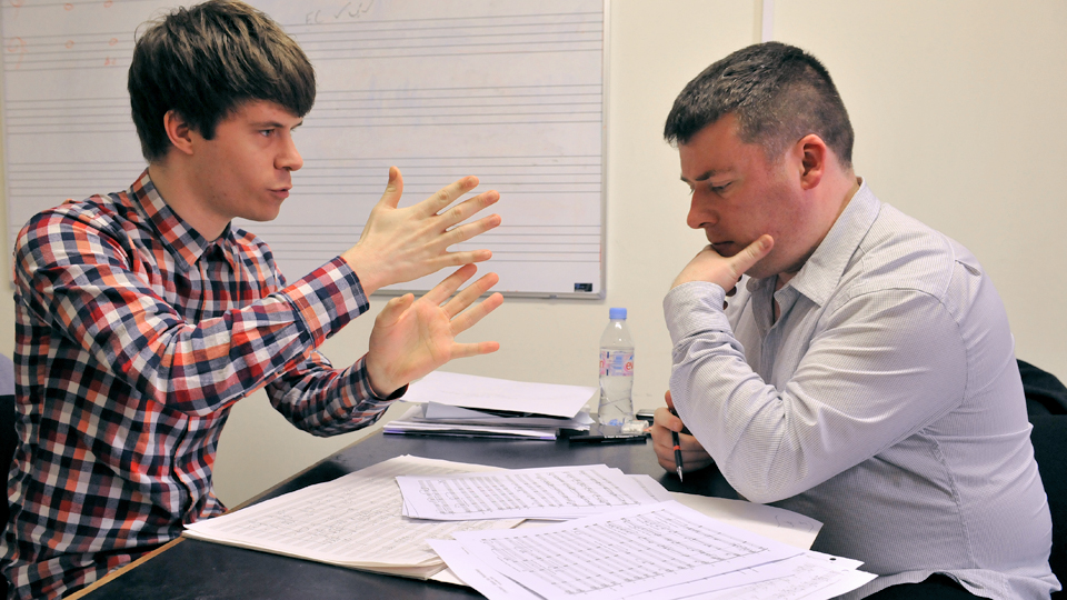 RCM composers in discussion