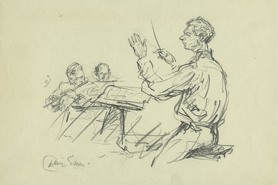 Over 1,000 Milein Cosman sketches acquired by Royal College of Music Museum
