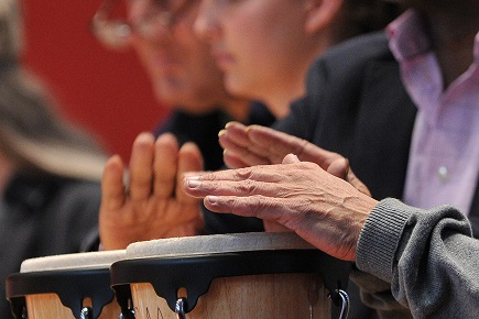 RCM Finds Drumming Has Positive Impact on Mental Health