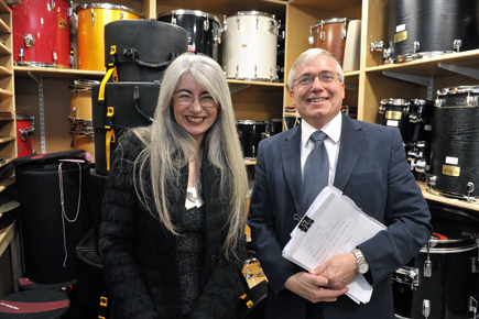 Dame Evelyn Glennie Opens RCM's Brand New Percussion Suite