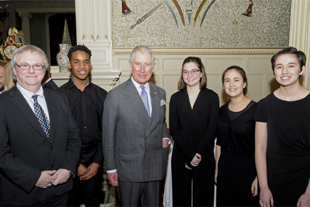 RCMJD Quartet Performs for Royalty