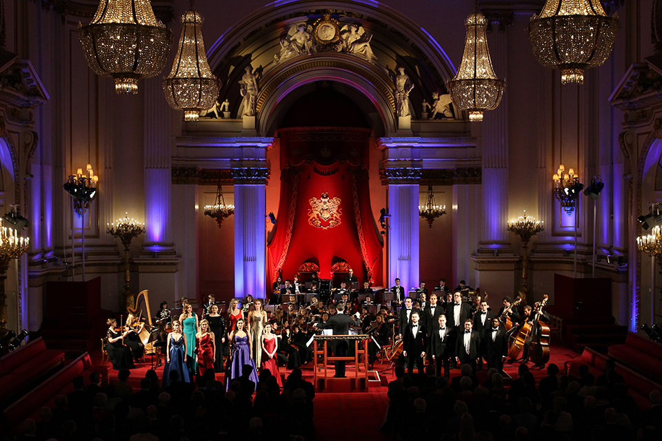 Performers at the Royal Gala
