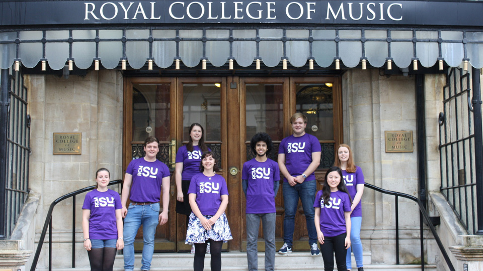 The current committee of the Royal College of Music Students' Union