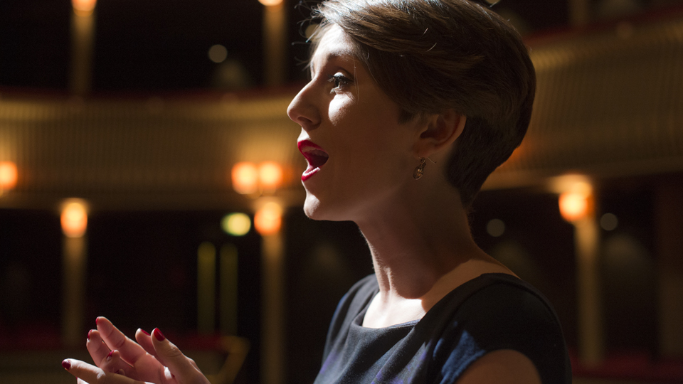 RCM singer in the Britten Theatre