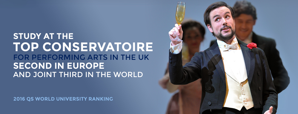 Ranked Top UK Conservatoire, Second in Europe and Joint Third in the World by 2016 QS World University Ranking