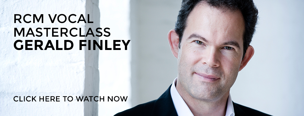 Watch an RCM masterclass with Gerald Finley
