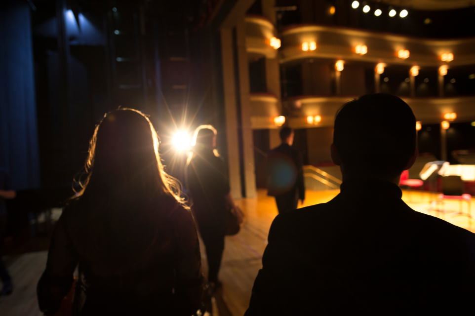 Students in Britten Theatre